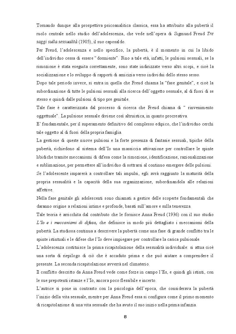 Anteprima della tesi: Indagine sui fenomeni dissociativi in adolescenza, Pagina 7
