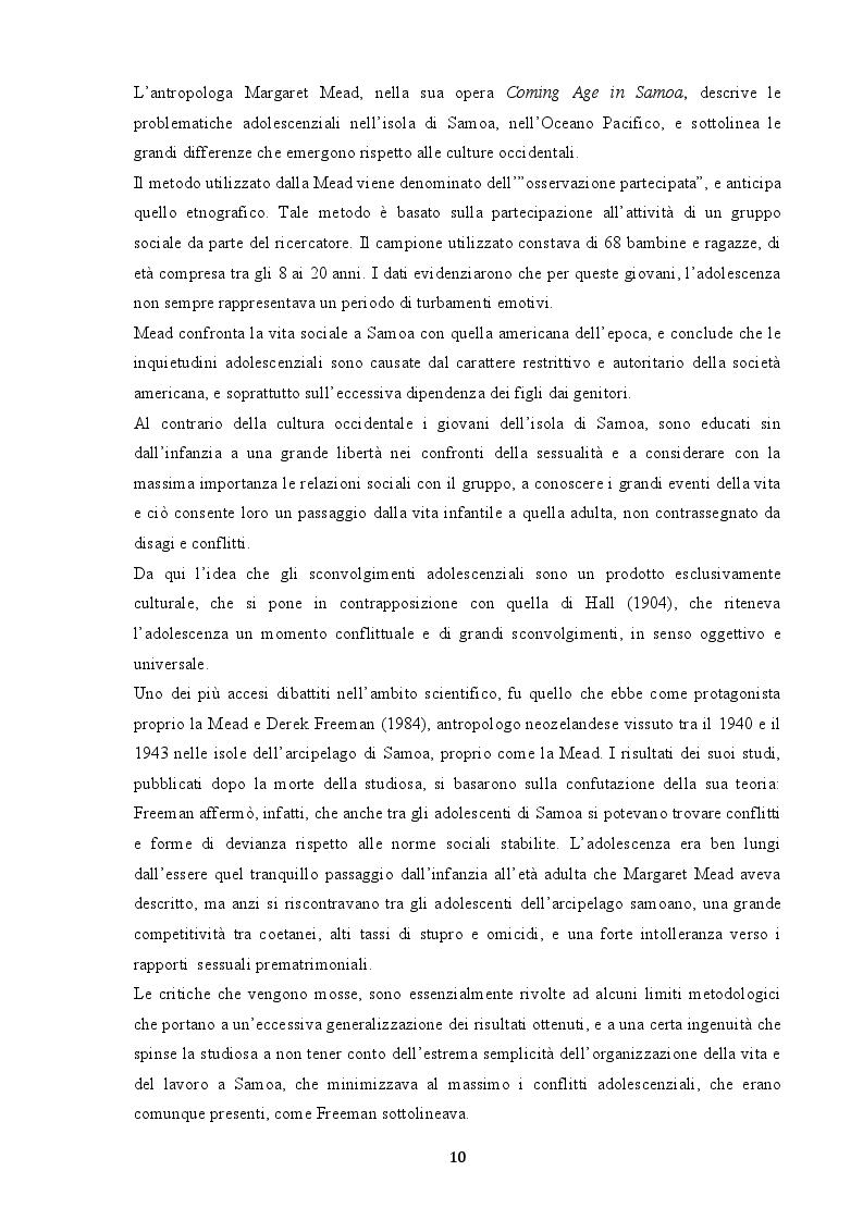 Anteprima della tesi: Indagine sui fenomeni dissociativi in adolescenza, Pagina 9
