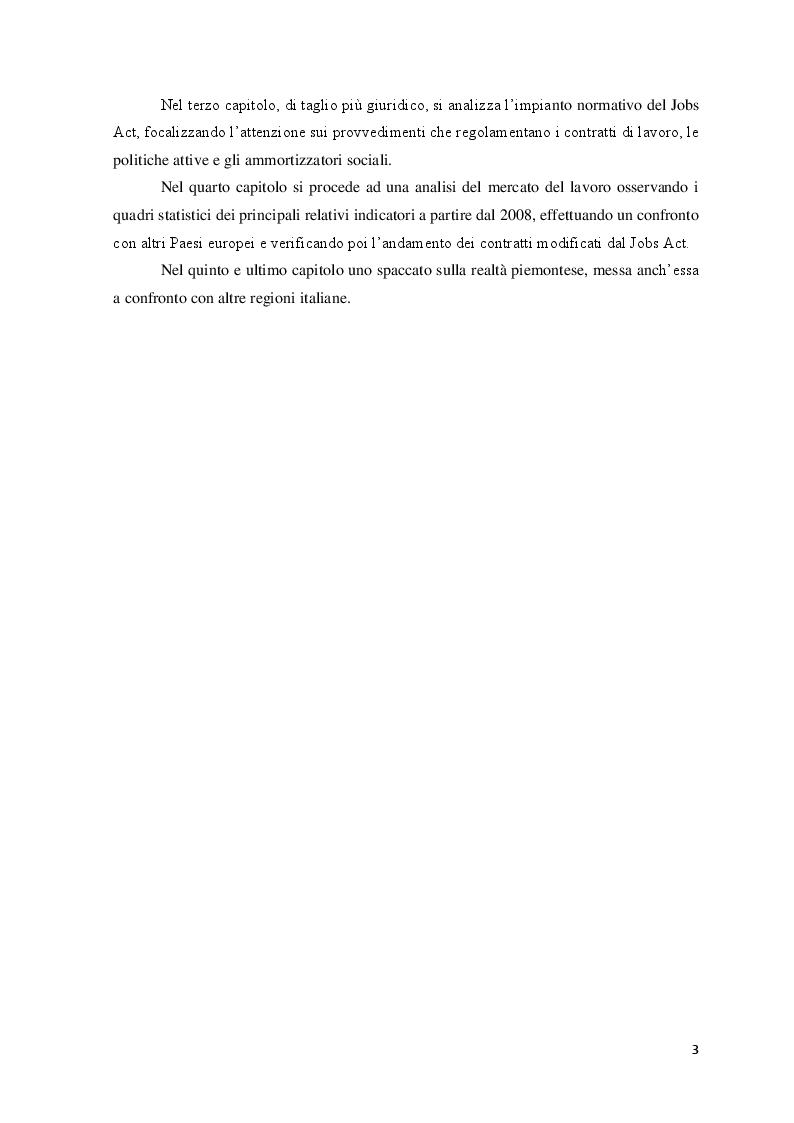 Anteprima della tesi: Le Politiche del lavoro e il Jobs Act, Pagina 4