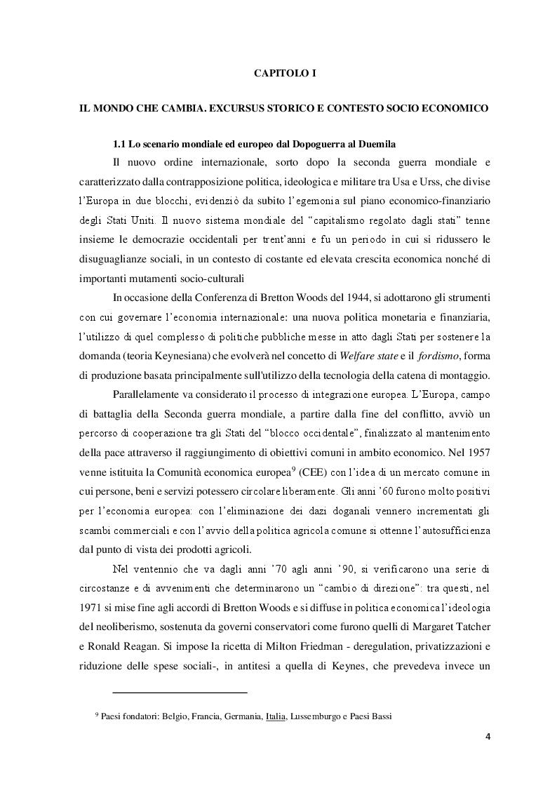Anteprima della tesi: Le Politiche del lavoro e il Jobs Act, Pagina 5