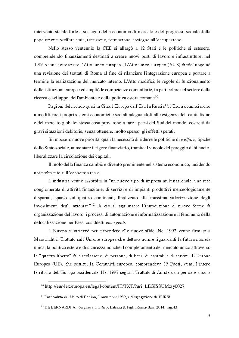 Anteprima della tesi: Le Politiche del lavoro e il Jobs Act, Pagina 6