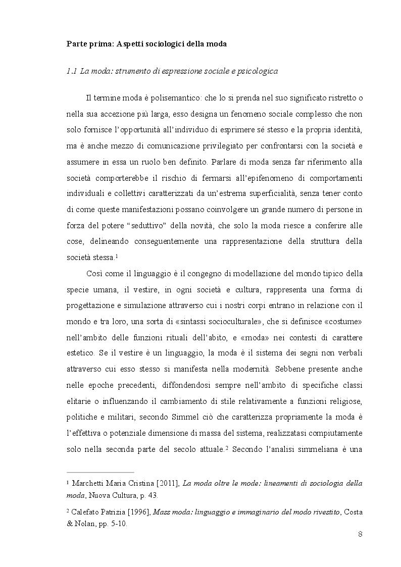 Anteprima della tesi: Mass moda: dalla moda elitaria alla moda di massa, Pagina 2