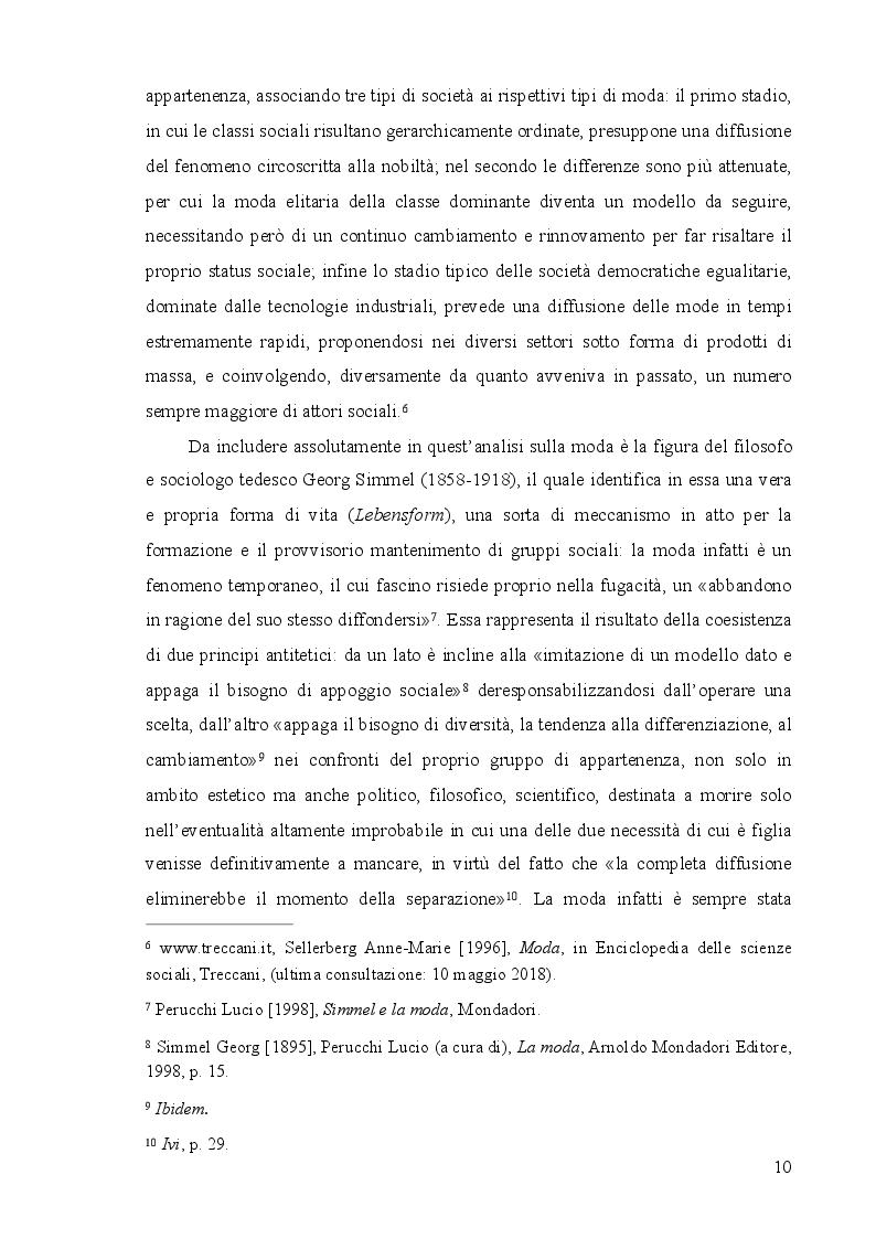 Anteprima della tesi: Mass moda: dalla moda elitaria alla moda di massa, Pagina 4