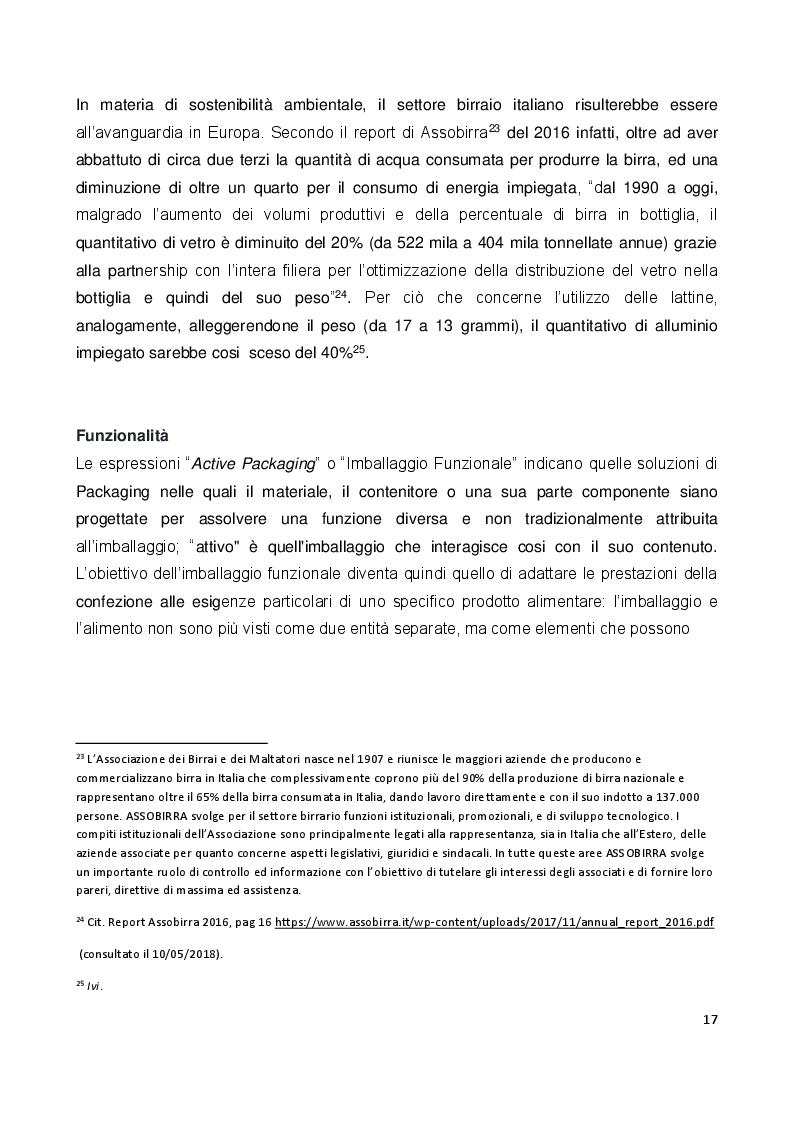 Estratto dalla tesi: Il ruolo e il valore del packaging nel mercato della birra artigianale. L'introduzione della lattina nel panorama italiano