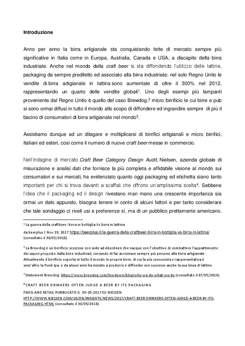 Anteprima della tesi: Il ruolo e il valore del packaging nel mercato della birra artigianale. L'introduzione della lattina nel panorama italiano, Pagina 2