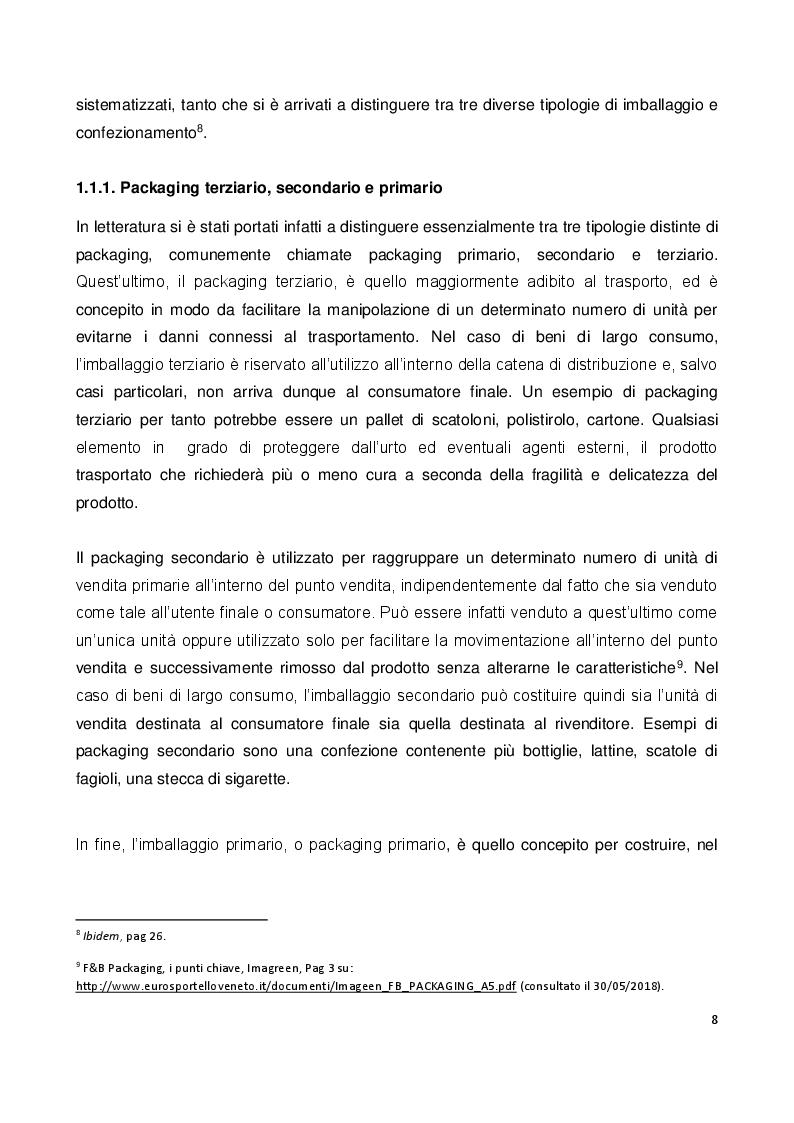 Anteprima della tesi: Il ruolo e il valore del packaging nel mercato della birra artigianale. L'introduzione della lattina nel panorama italiano, Pagina 5