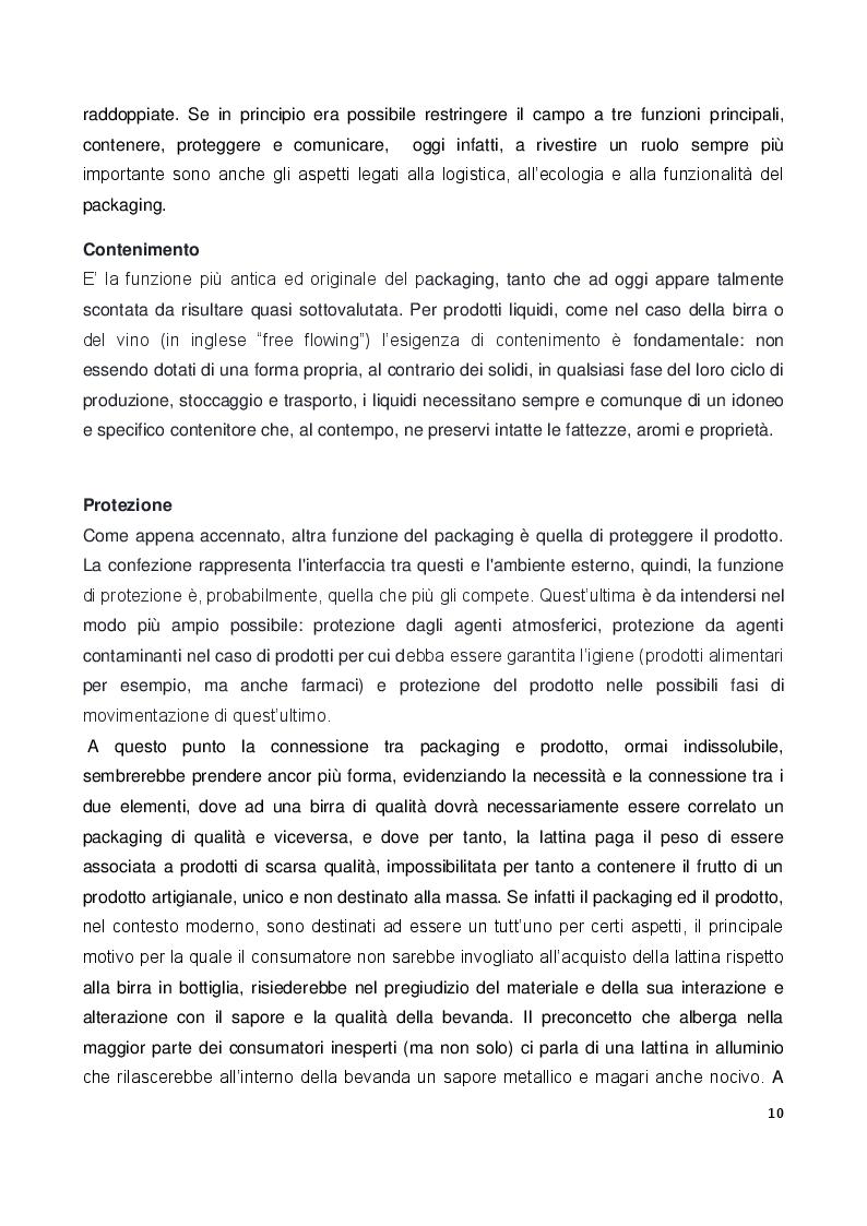 Anteprima della tesi: Il ruolo e il valore del packaging nel mercato della birra artigianale. L'introduzione della lattina nel panorama italiano, Pagina 7