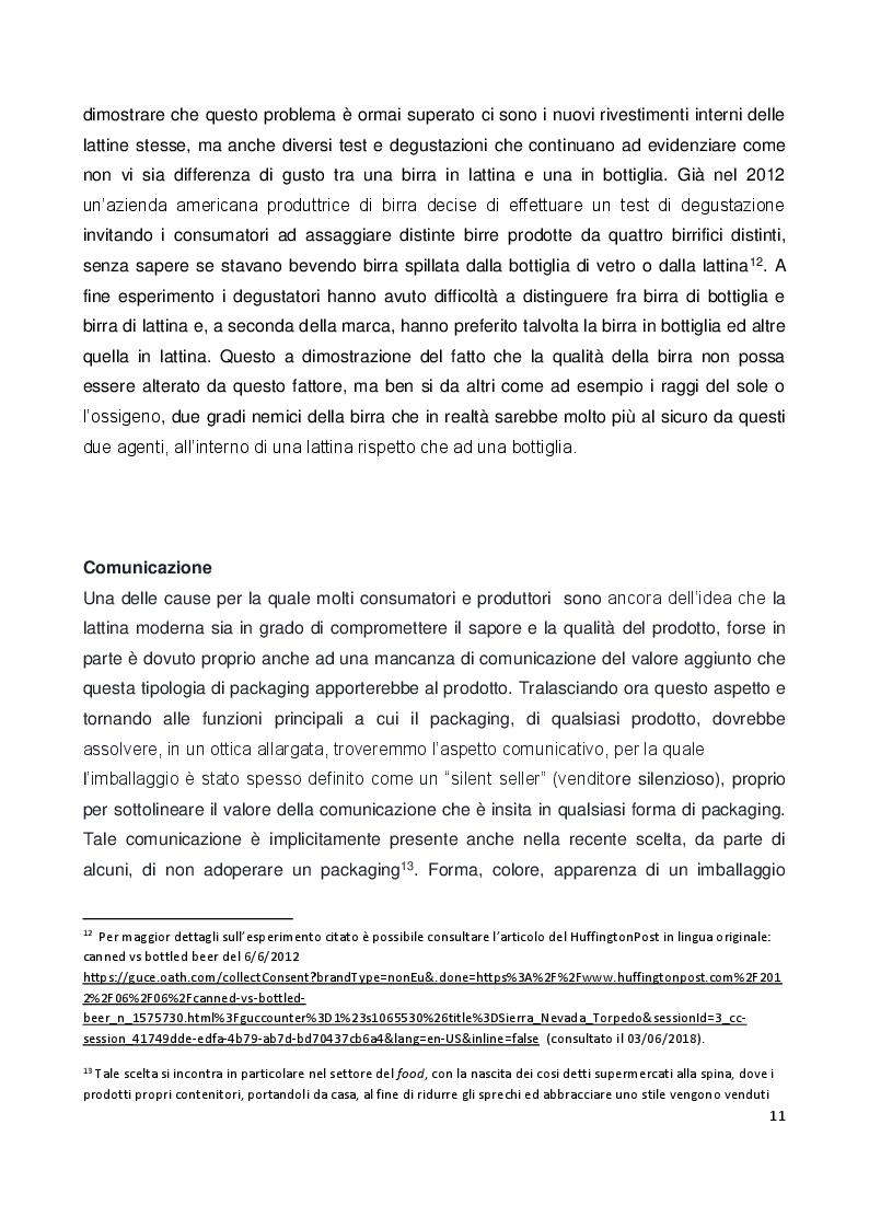Anteprima della tesi: Il ruolo e il valore del packaging nel mercato della birra artigianale. L'introduzione della lattina nel panorama italiano, Pagina 8