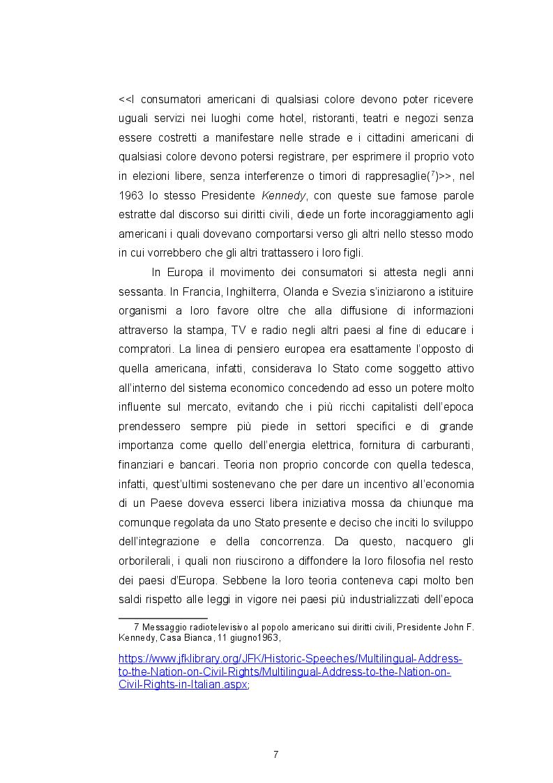 Anteprima della tesi: Il Codice del consumo, la tutela dell'eccellenza italiana e il ''nuovo'' vino Orange, Pagina 7