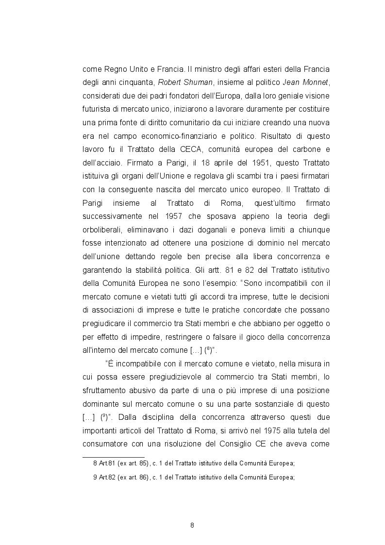 Anteprima della tesi: Il Codice del consumo, la tutela dell'eccellenza italiana e il ''nuovo'' vino Orange, Pagina 8
