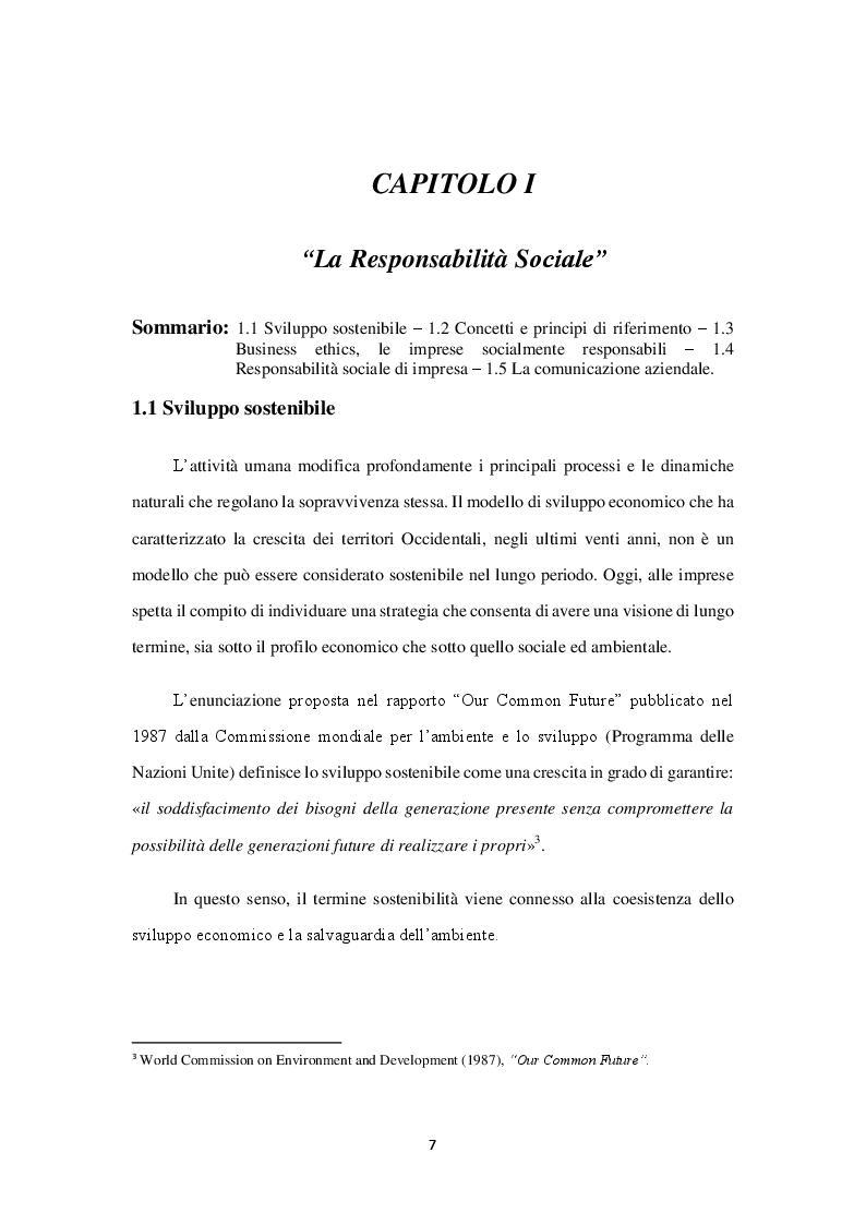 Anteprima della tesi: Il Bilancio Sociale, etica e responsabilità d'Impresa. Il Caso ARCA, Pagina 5