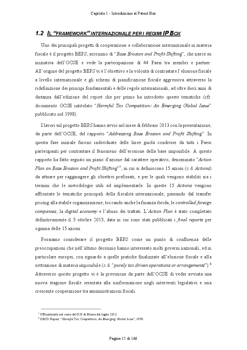 Anteprima della tesi: Patent Box: profili teorici e sviluppi applicativi del regime di tassazione agevolata dei redditi derivanti dall'utilizzo di beni immateriali, Pagina 6