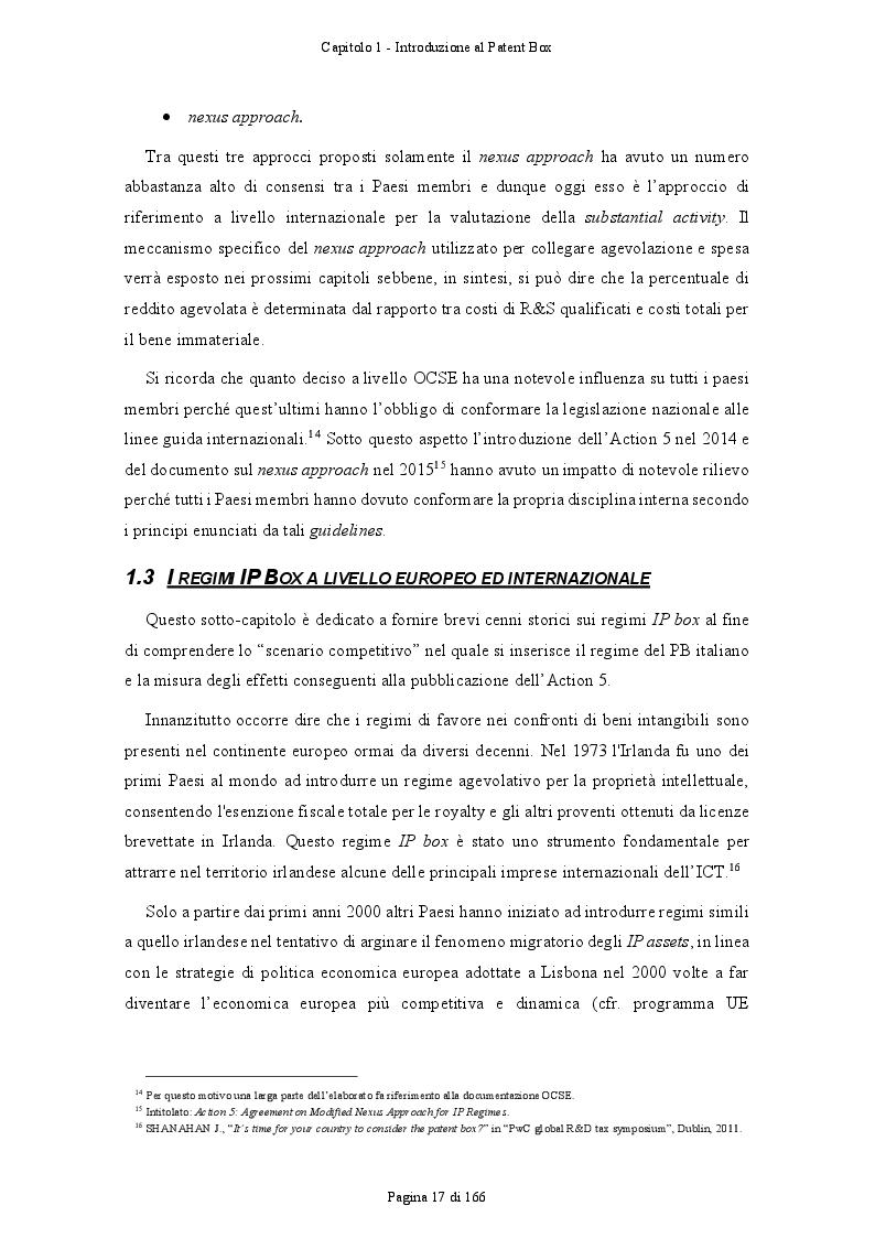 Anteprima della tesi: Patent Box: profili teorici e sviluppi applicativi del regime di tassazione agevolata dei redditi derivanti dall'utilizzo di beni immateriali, Pagina 8