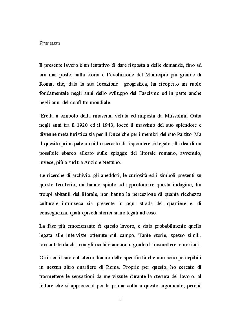 Anteprima della tesi: Ostia e l'entroterra dagli anni '20 alla fine della guerra, Pagina 2