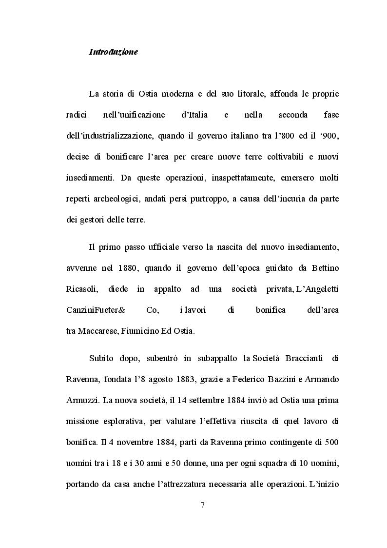 Anteprima della tesi: Ostia e l'entroterra dagli anni '20 alla fine della guerra, Pagina 4