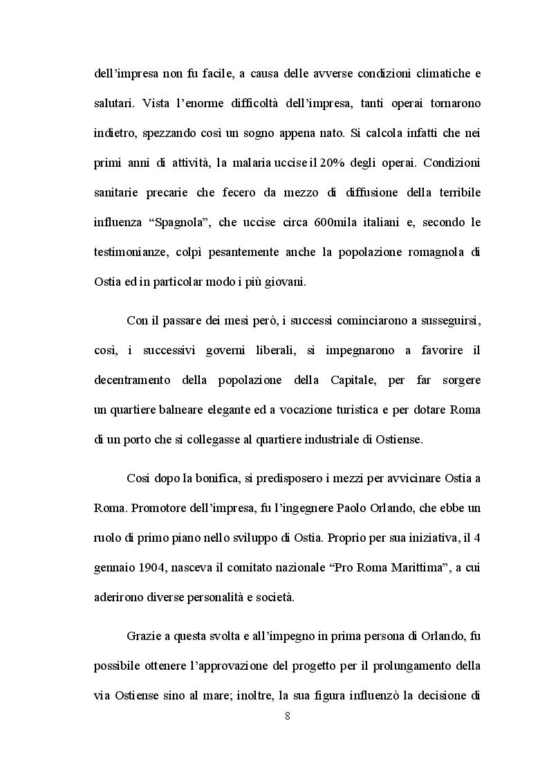 Anteprima della tesi: Ostia e l'entroterra dagli anni '20 alla fine della guerra, Pagina 5