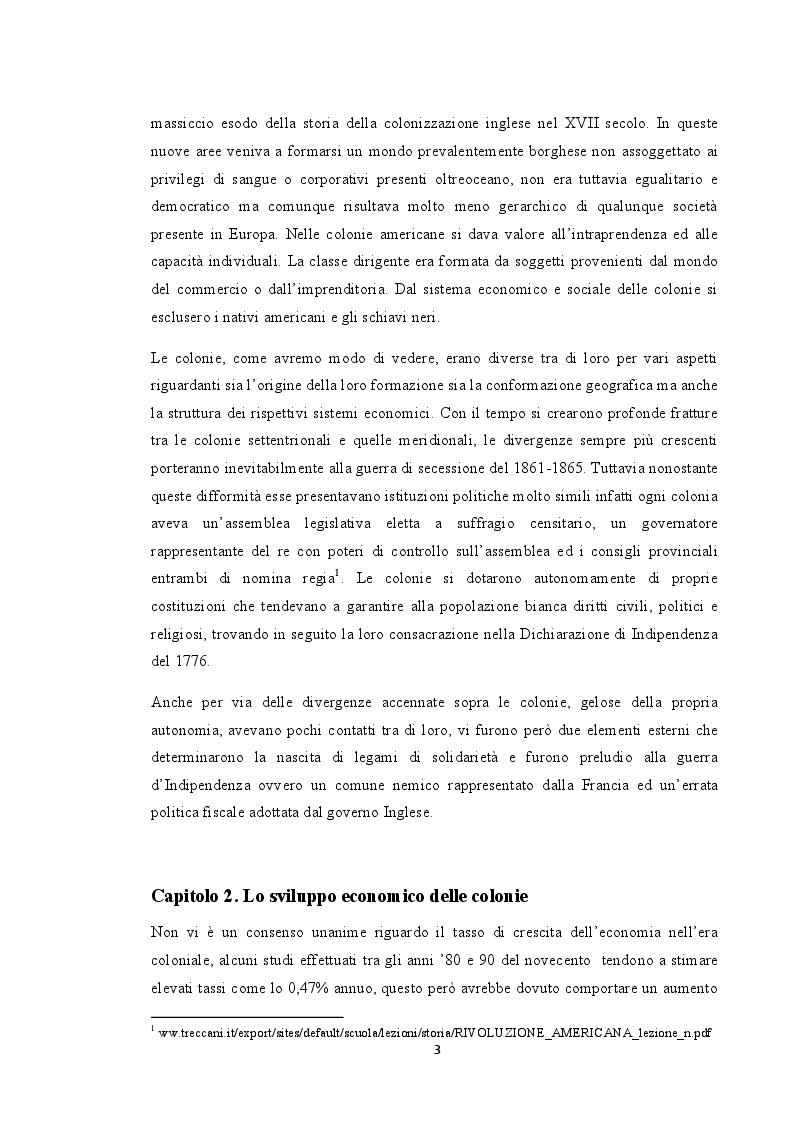 Anteprima della tesi: La situazione economica delle colonie americane, Pagina 4