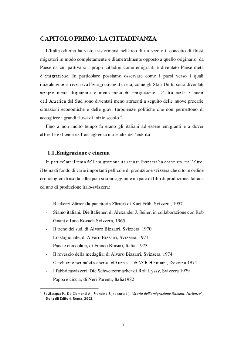 Anteprima della tesi: Italiana, Svizzera, Italo-svizzera Un'analisi della cittadinanza della comunità di emigranti italiani attraverso i registri di cittadinanza del Consolato Generale d'Italia di Zurigo (1975 - 2015), Pagina 6