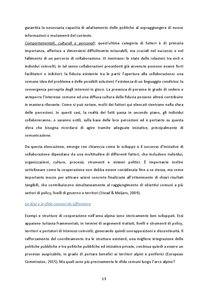 Estratto dalla tesi: La cooperazione transnazionale sulle Alpi. Analisi delle esperienze e futuro sviluppo macroregionale.