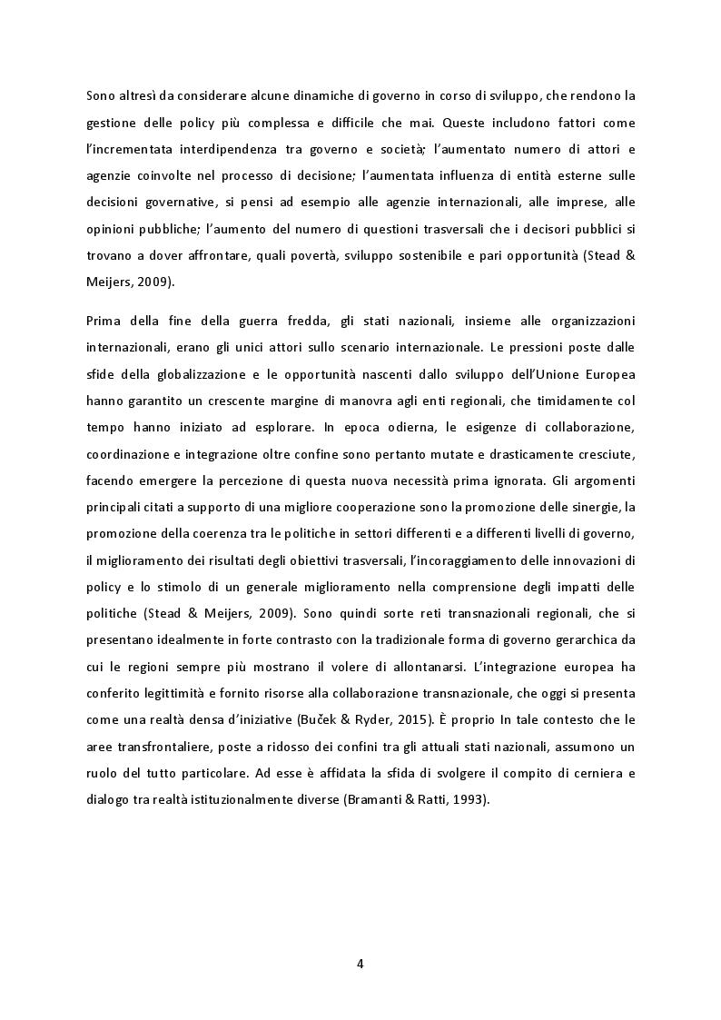 Anteprima della tesi: La cooperazione transnazionale sulle Alpi. Analisi delle esperienze e futuro sviluppo macroregionale., Pagina 3