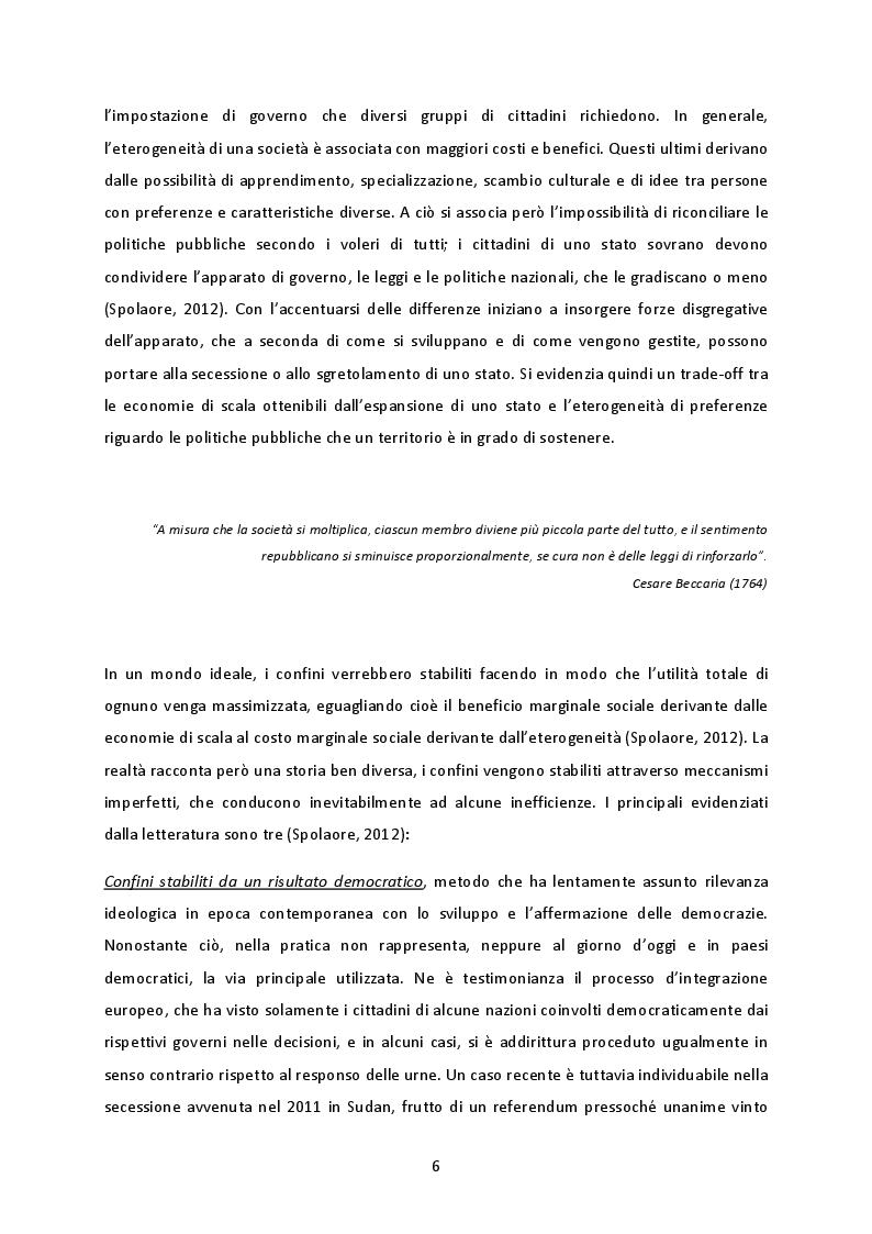 Anteprima della tesi: La cooperazione transnazionale sulle Alpi. Analisi delle esperienze e futuro sviluppo macroregionale., Pagina 5