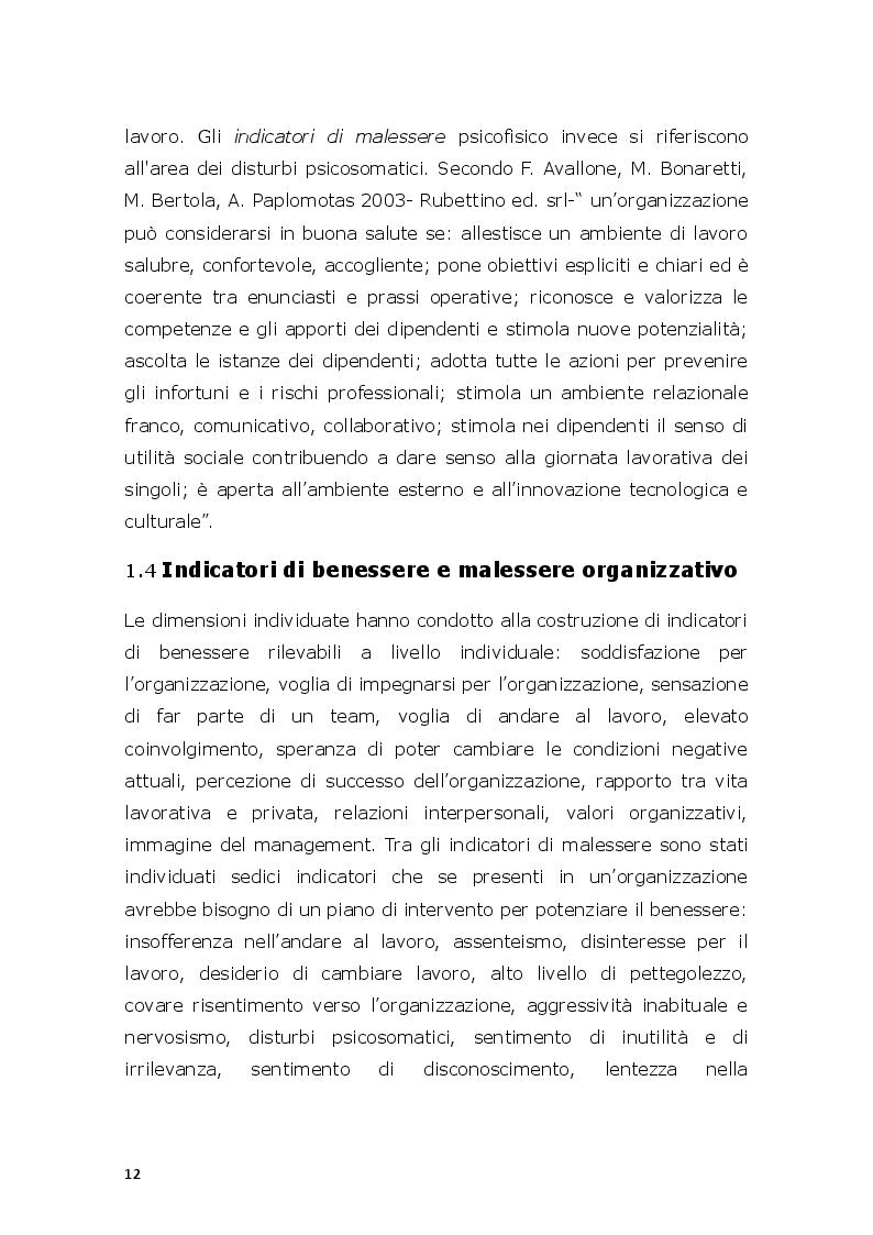 Estratto dalla tesi: Il modello di valutazione dei rischi psicosociali (VARP) come risposta allo stress lavoro-correlato: un caso applicativo