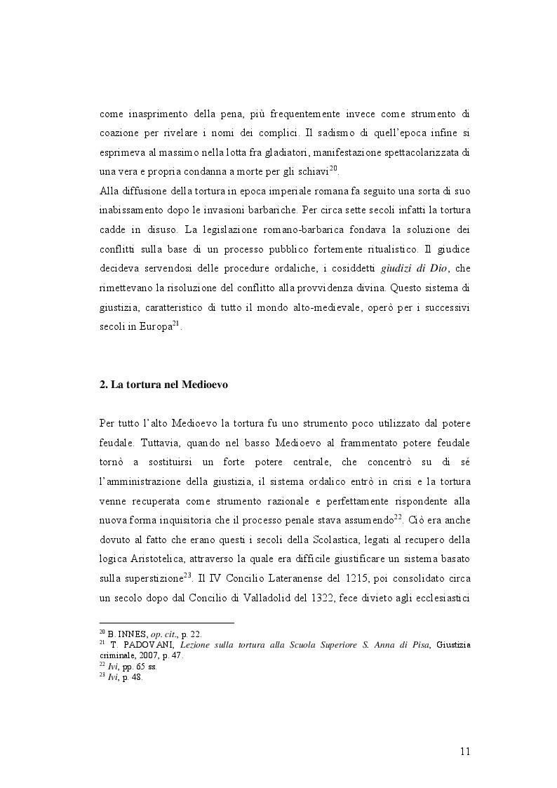 Anteprima della tesi: IL DELITTO DI TORTURA - Processo storico e analisi critica di una fattispecie di reato a lungo attesa, Pagina 8