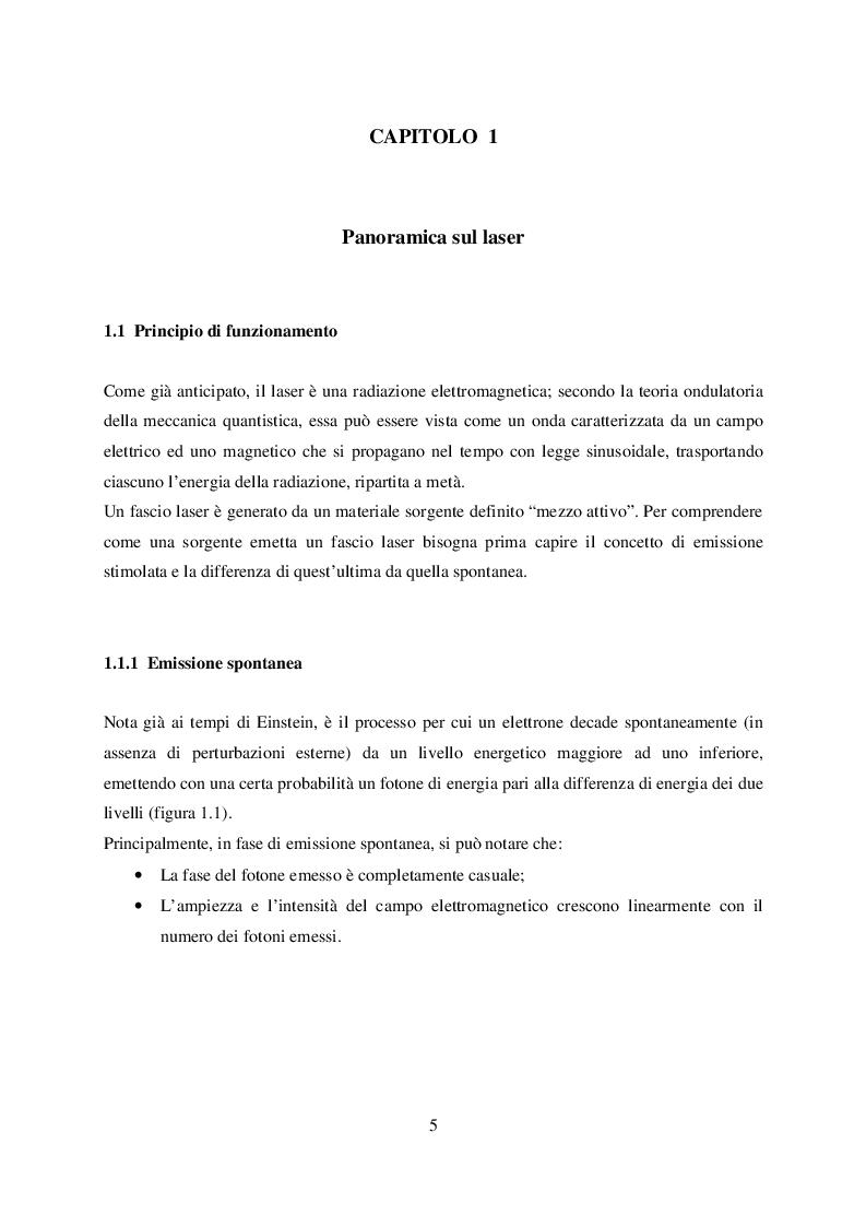 Anteprima della tesi: Microtaglio di lamiere sottili con laser al femtosecondo, Pagina 6