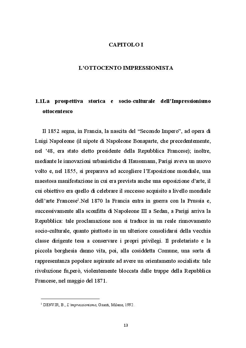 Anteprima della tesi: La Libertà dalle convenzioni: l'incontro sinergico tra impressionismo e mercato dell'arte, Pagina 2