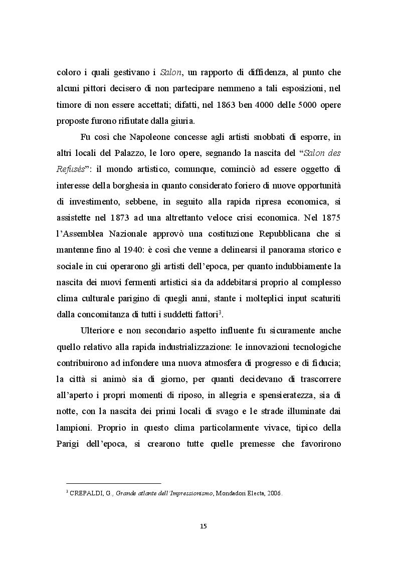 Anteprima della tesi: La Libertà dalle convenzioni: l'incontro sinergico tra impressionismo e mercato dell'arte, Pagina 4