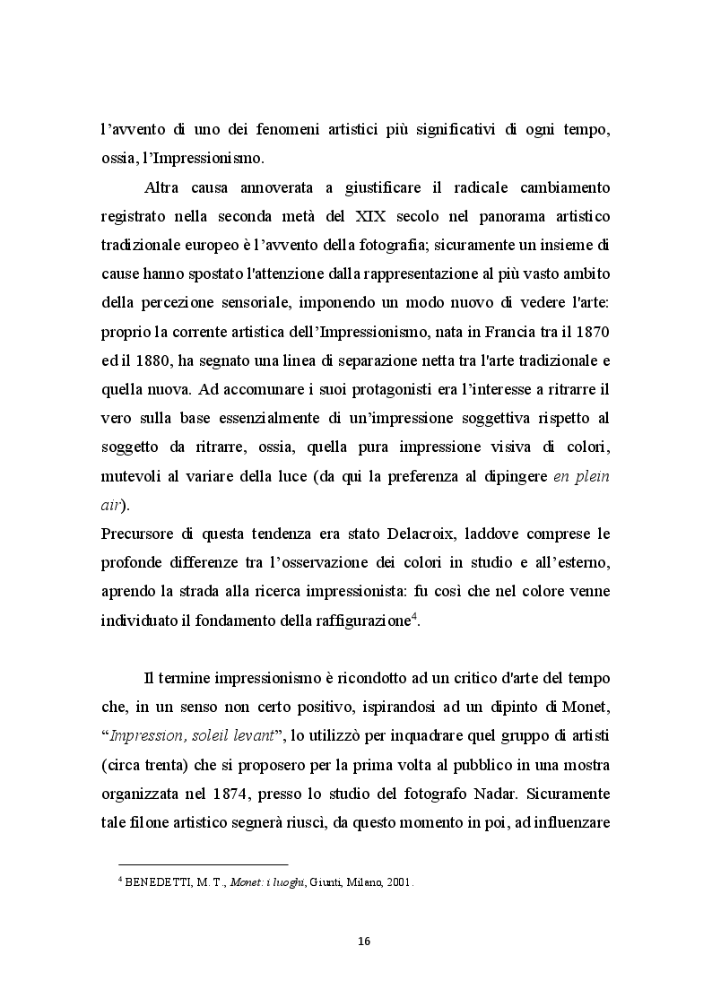 Anteprima della tesi: La Libertà dalle convenzioni: l'incontro sinergico tra impressionismo e mercato dell'arte, Pagina 5