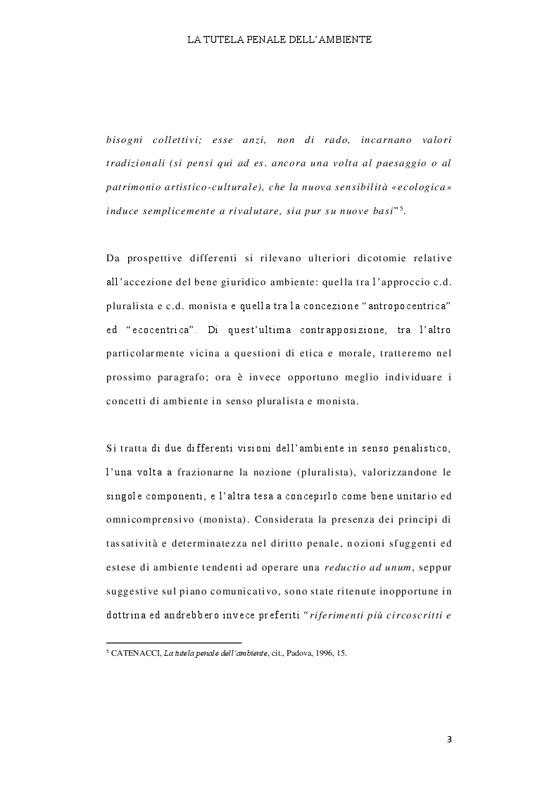 Anteprima della tesi: Il delitto di inquinamento ambientale, Pagina 4