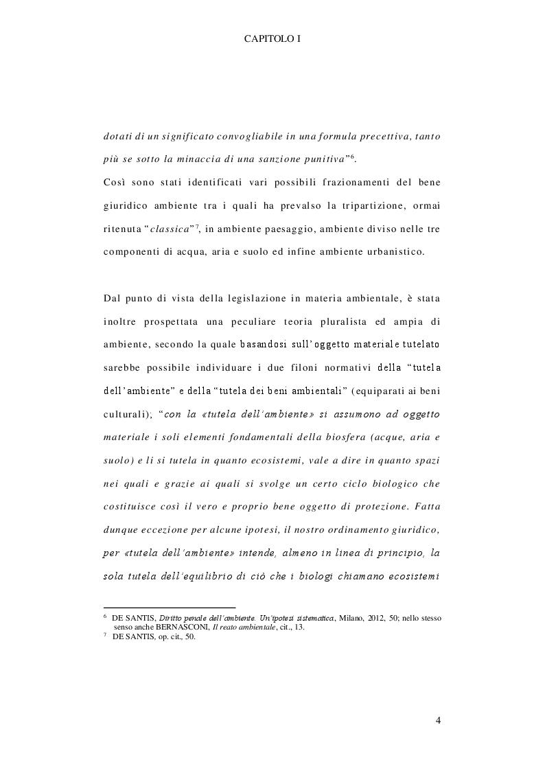 Anteprima della tesi: Il delitto di inquinamento ambientale, Pagina 5
