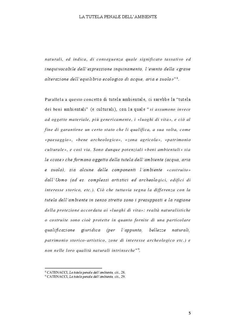 Anteprima della tesi: Il delitto di inquinamento ambientale, Pagina 6