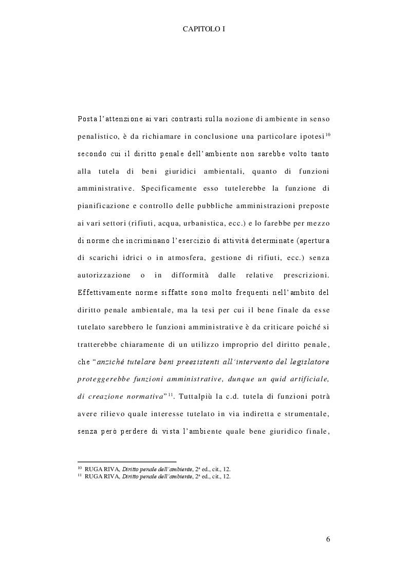 Anteprima della tesi: Il delitto di inquinamento ambientale, Pagina 7