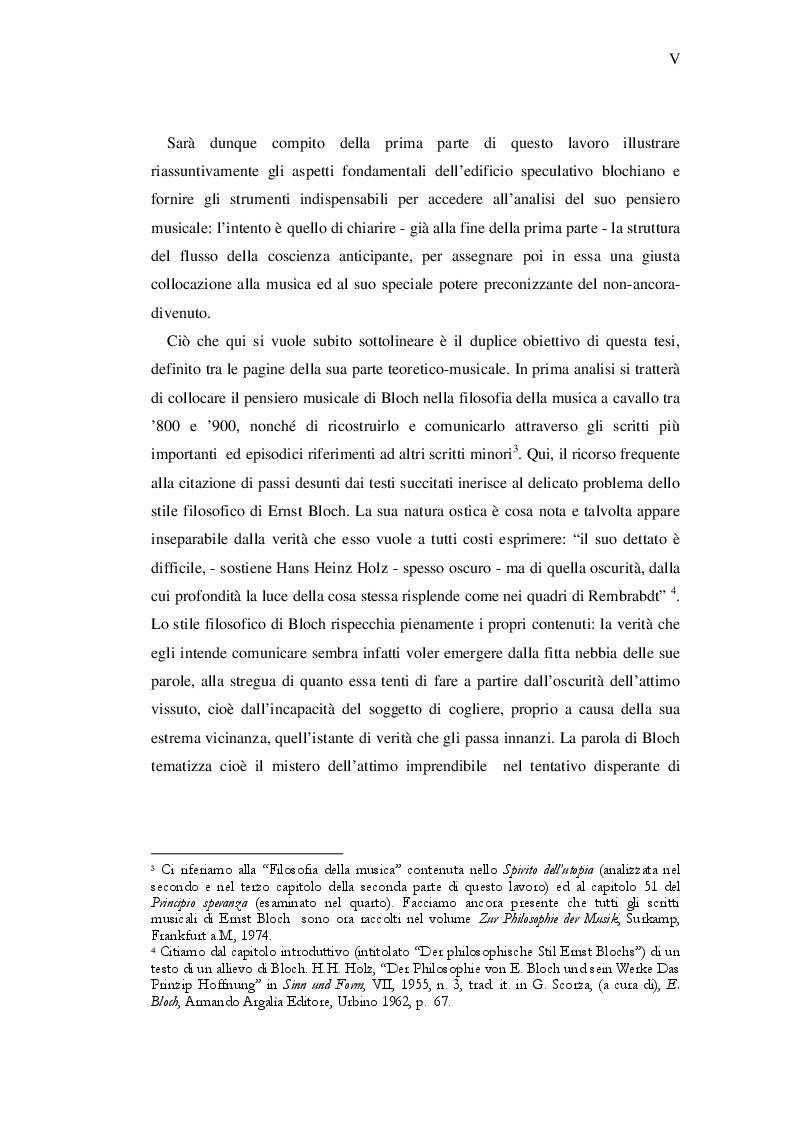Anteprima della tesi: Ernst Bloch: Musica e Ontologia del non-ancora, Pagina 3
