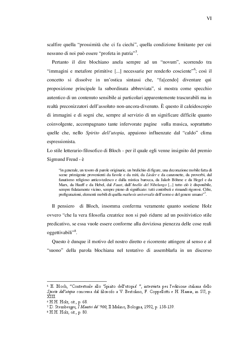 Anteprima della tesi: Ernst Bloch: Musica e Ontologia del non-ancora, Pagina 4