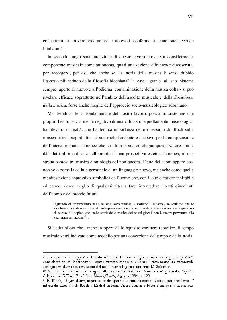 Anteprima della tesi: Ernst Bloch: Musica e Ontologia del non-ancora, Pagina 5