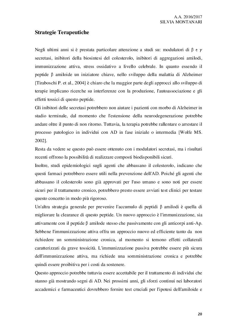 Anteprima della tesi: L'importanza dei nutraceutici nella dieta e prevenzione nel Morbo di Alzheimer, Pagina 2
