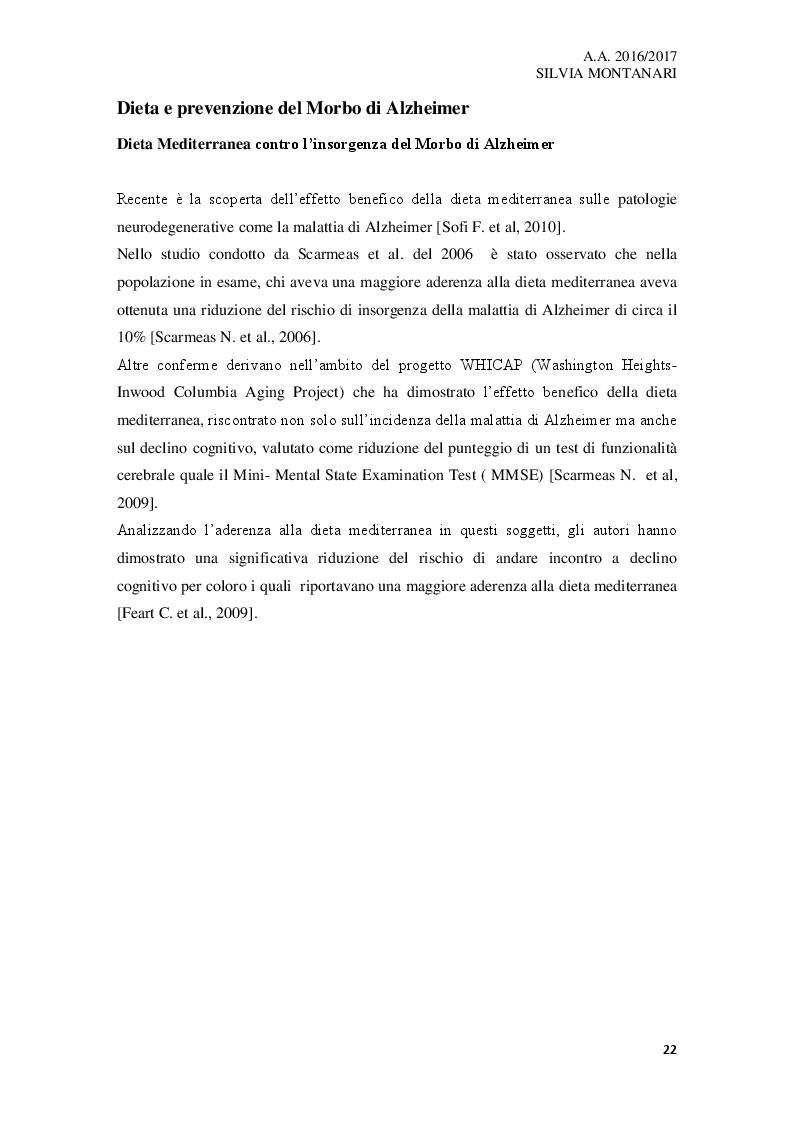 Anteprima della tesi: L'importanza dei nutraceutici nella dieta e prevenzione nel Morbo di Alzheimer, Pagina 4