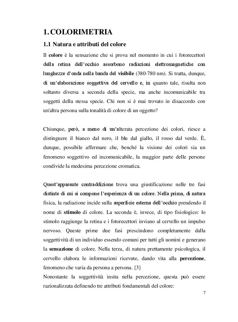 Anteprima della tesi: Misure colorimetriche tramite un apparato in fibra ottica, Pagina 4