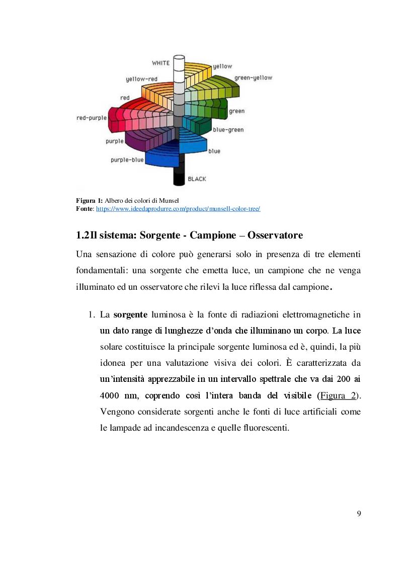 Anteprima della tesi: Misure colorimetriche tramite un apparato in fibra ottica, Pagina 6
