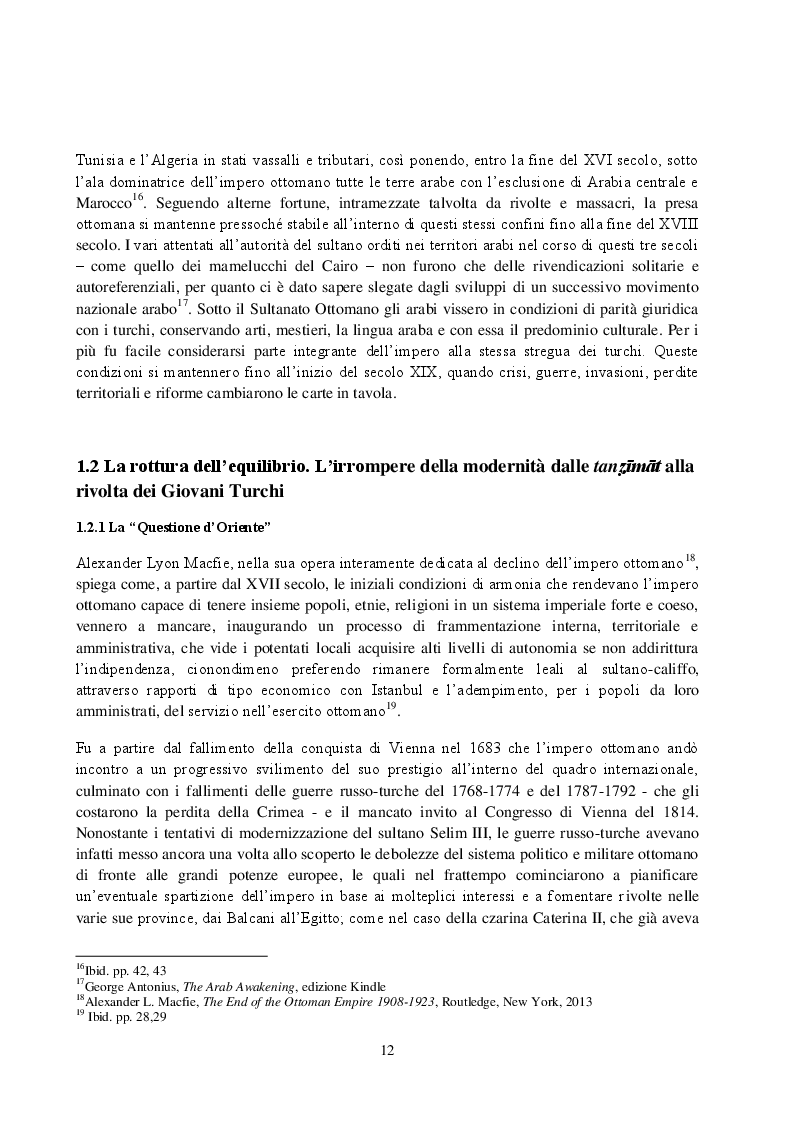 Anteprima della tesi: La Rivista Al-Qibla. La propaganda Hascemita dal Nazionalismo Arabo al patriottismo giordano, Pagina 10