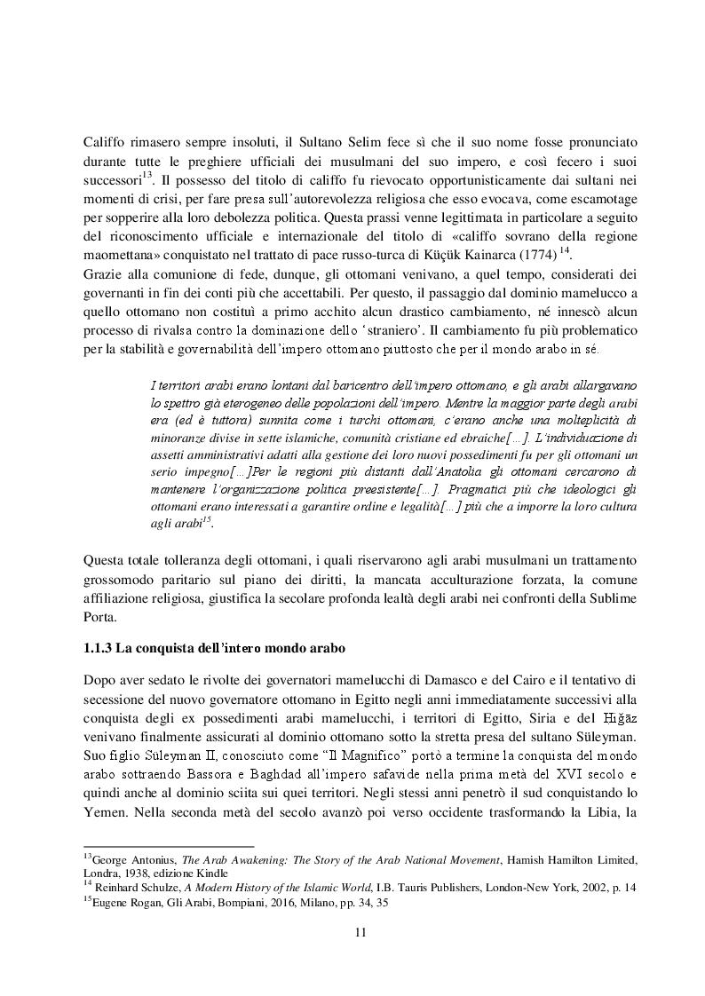 Anteprima della tesi: La Rivista Al-Qibla. La propaganda Hascemita dal Nazionalismo Arabo al patriottismo giordano, Pagina 9