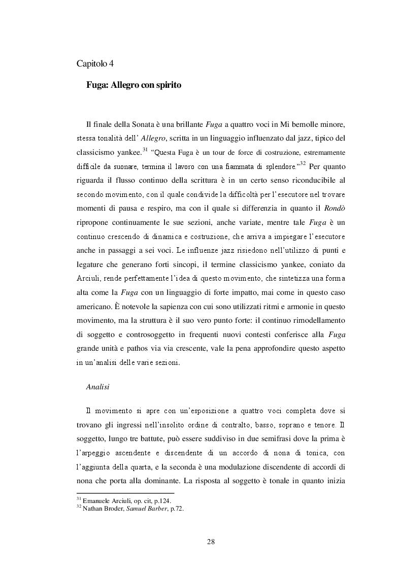 Anteprima della tesi: La confluenza di linguaggi nella Sonata per pianoforte di Samuel Barber, Pagina 2