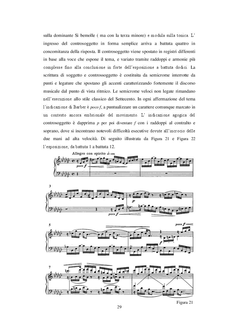 Anteprima della tesi: La confluenza di linguaggi nella Sonata per pianoforte di Samuel Barber, Pagina 3