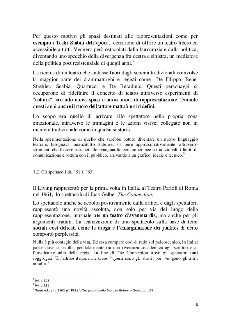 Anteprima della tesi: Cronache Italiane del Living Theatre, Pagina 5