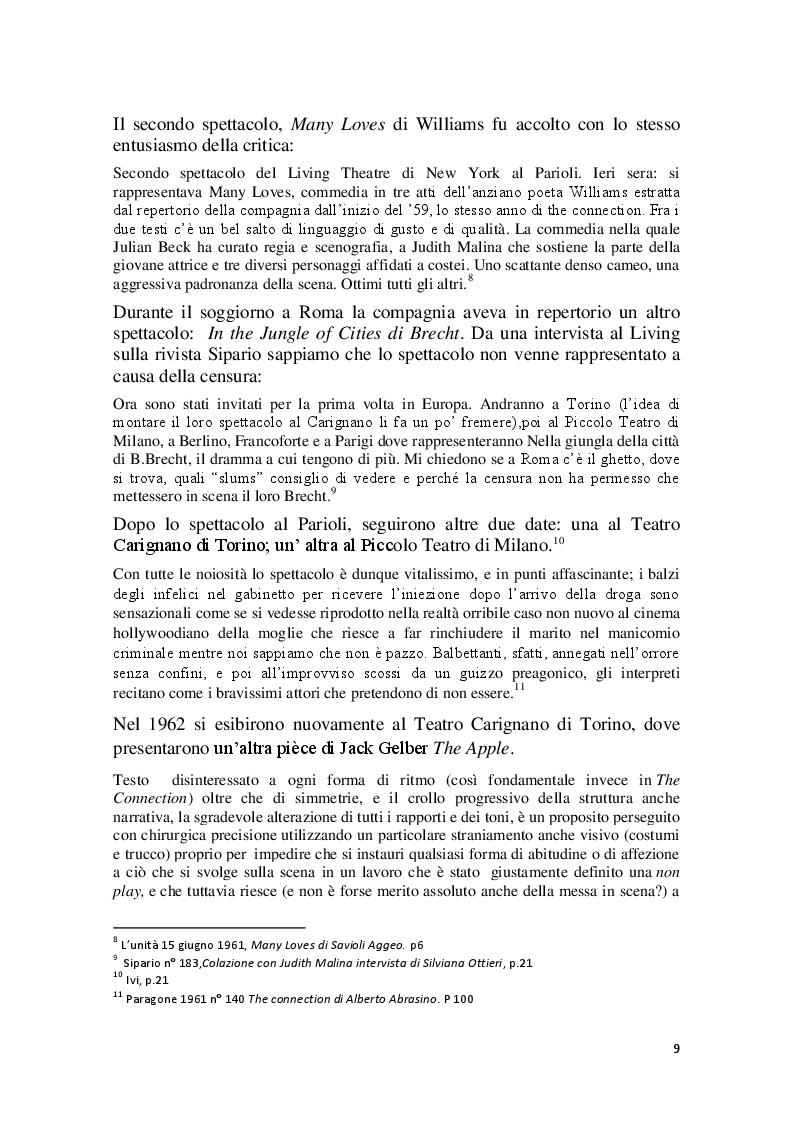 Anteprima della tesi: Cronache Italiane del Living Theatre, Pagina 6