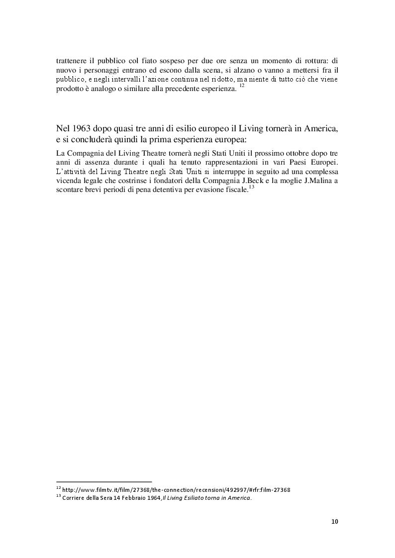 Anteprima della tesi: Cronache Italiane del Living Theatre, Pagina 7