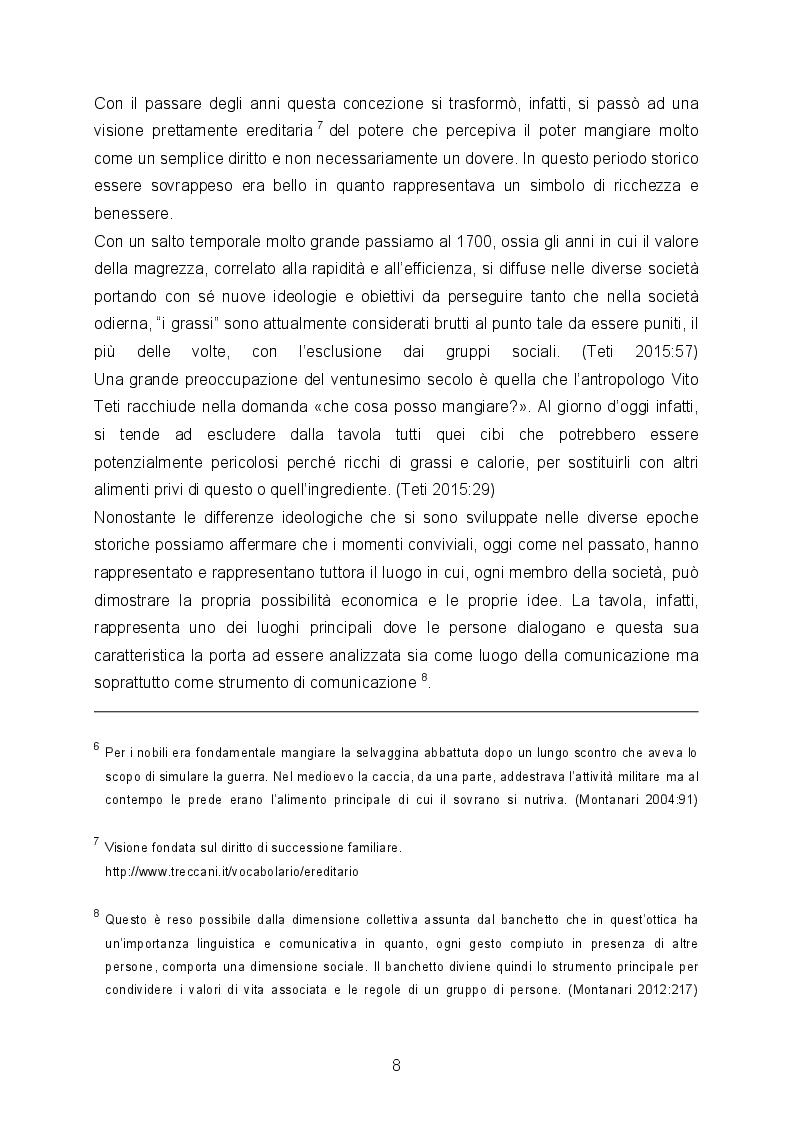 Anteprima della tesi: Il cibo è cultura e specchio di una società, Pagina 6